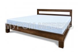 Здесь изображено Кровать Витязь из массива