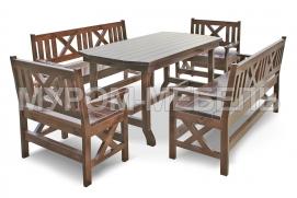 Здесь изображено Набор мебели для веранд и террас Дубрава