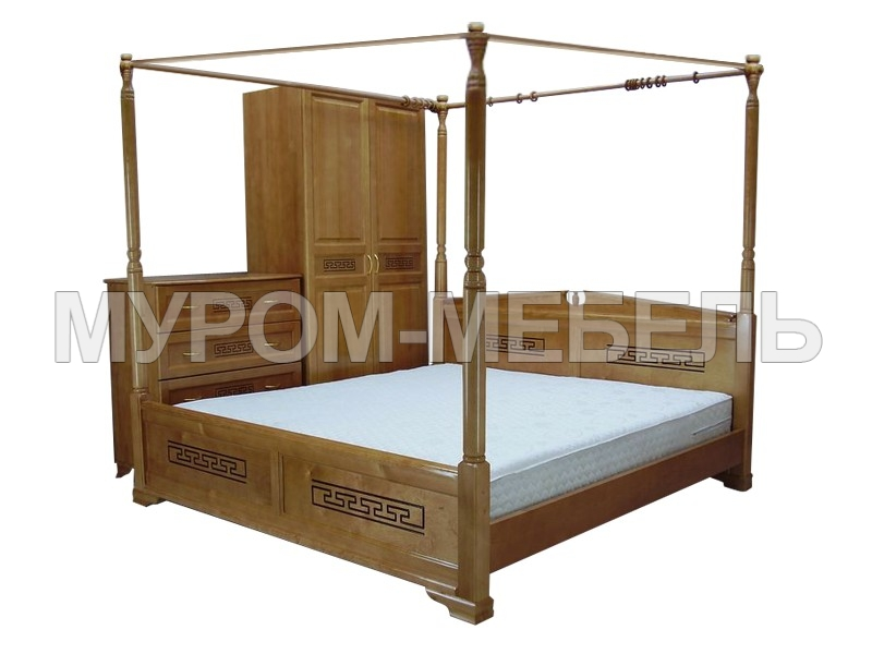 Здесь изображено Кровать Афина с балдахином
