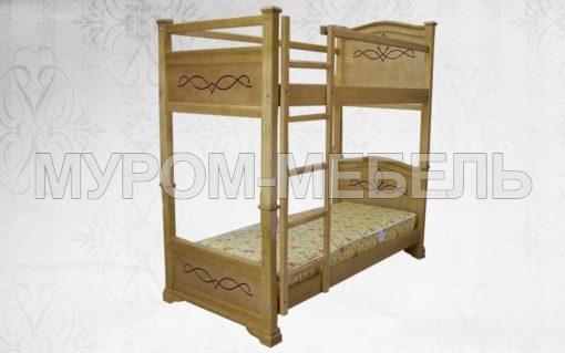 Здесь изображено Кровать двухъярусная Соната