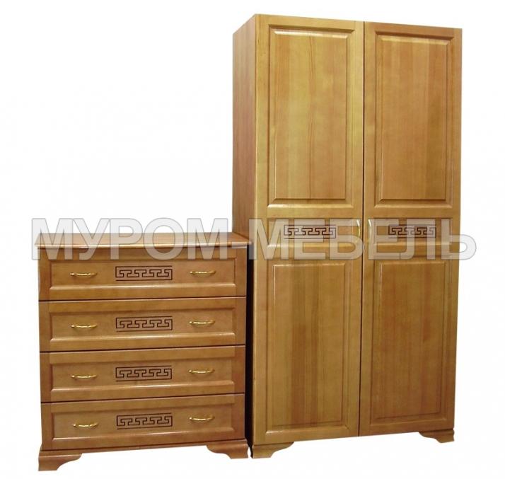 Здесь изображено Шкаф 2-х ств. и комод Классика