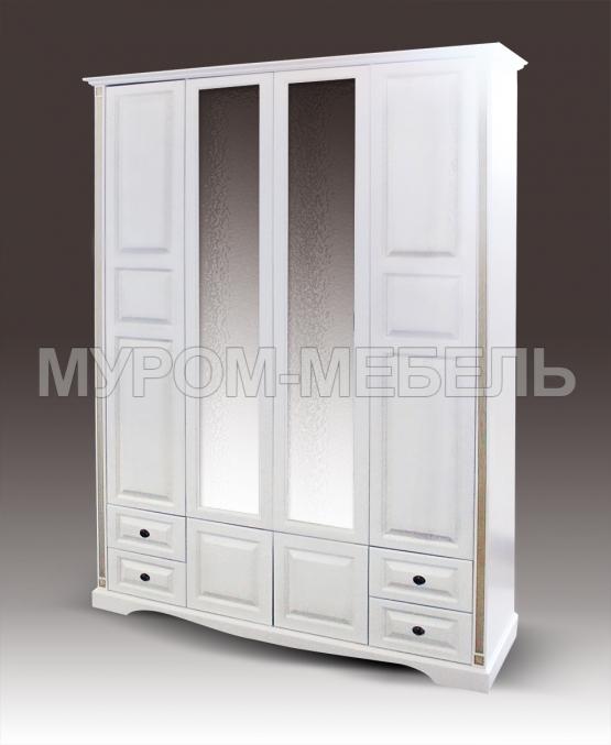 Здесь изображено Шкаф 4-х дверный из серии