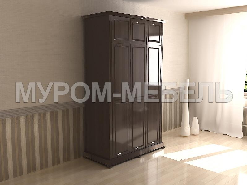Здесь изображено Шкаф трехстворчатый с антресолью из серии