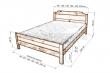 Здесь изображено Кровать дачная №2