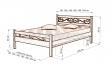 Здесь изображено Кровать Венеция (ковка)