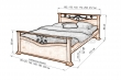 Здесь изображено Кровать Золушка (ковка)
